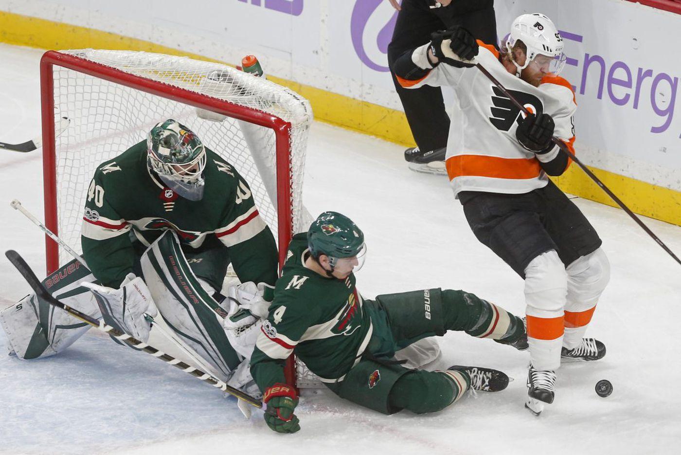 Flyers blanked again by Wild's Devan Dubnyk