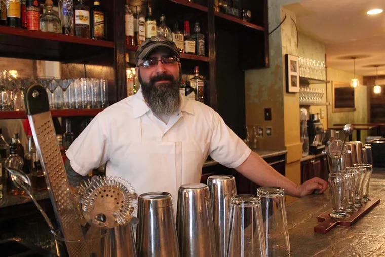 Chef Alex Capasso behind the bar at Crow & the Pitcher, 267 S. 19th St.