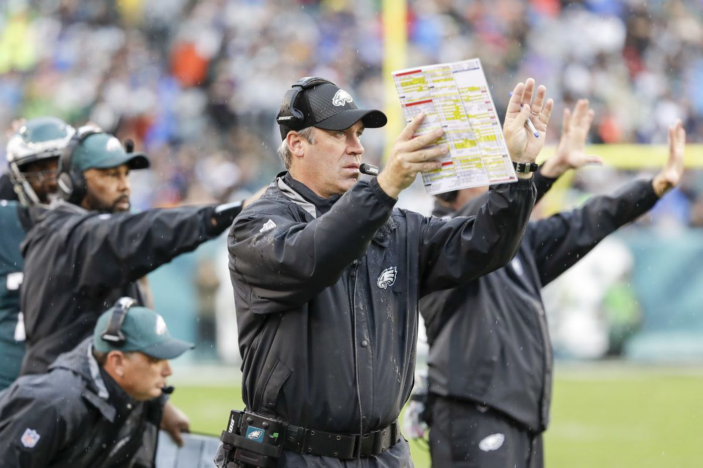 Eagles' coach Doug Pederson's 'Mic'd up' moment against 49ers shows he can crack the whip