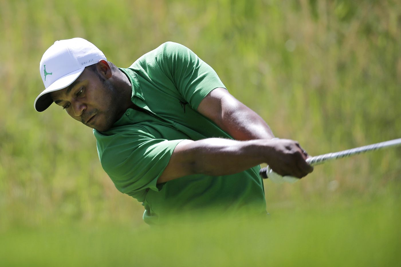 PGA Championship: Harold Varner, one of three African Americans on tour, answers 'Tiger' chants with solid pla