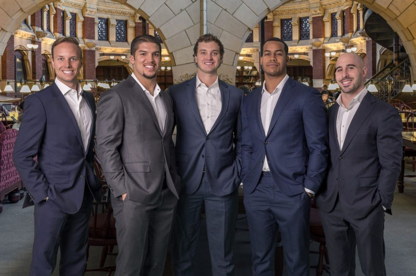 Eagles players Chris Maragos and Jordan Hicks, along with former teammate Trey Burton, launch TopTier Wealth Management