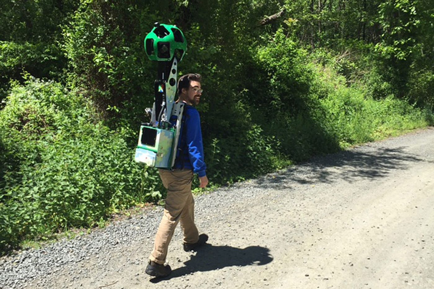 Two hikers capturing Philly parks for Google