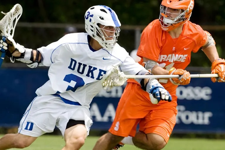 Duke and Denver will join Cornell and top-seeded Syracuse in the NCAA Division I men's lacrosse Final Four this weekend at Lincoln Financial Field. (Corey Lowenstein/AP, The News & Observer)