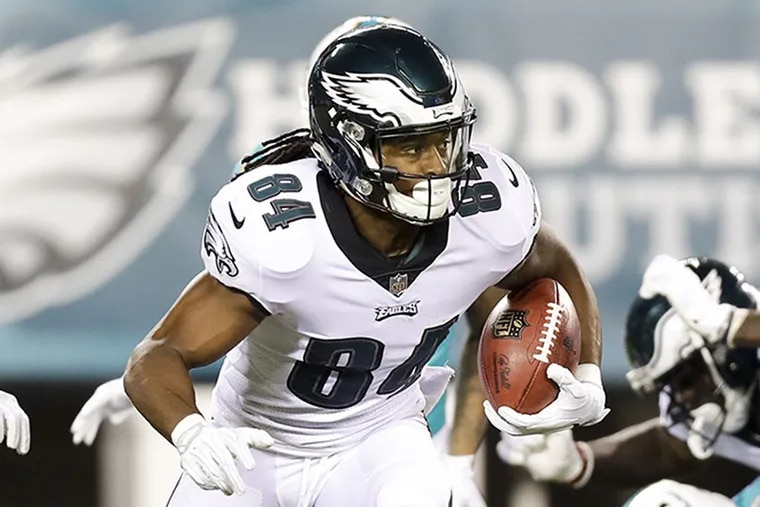 Eagles wide receiver Marcus Johnson.