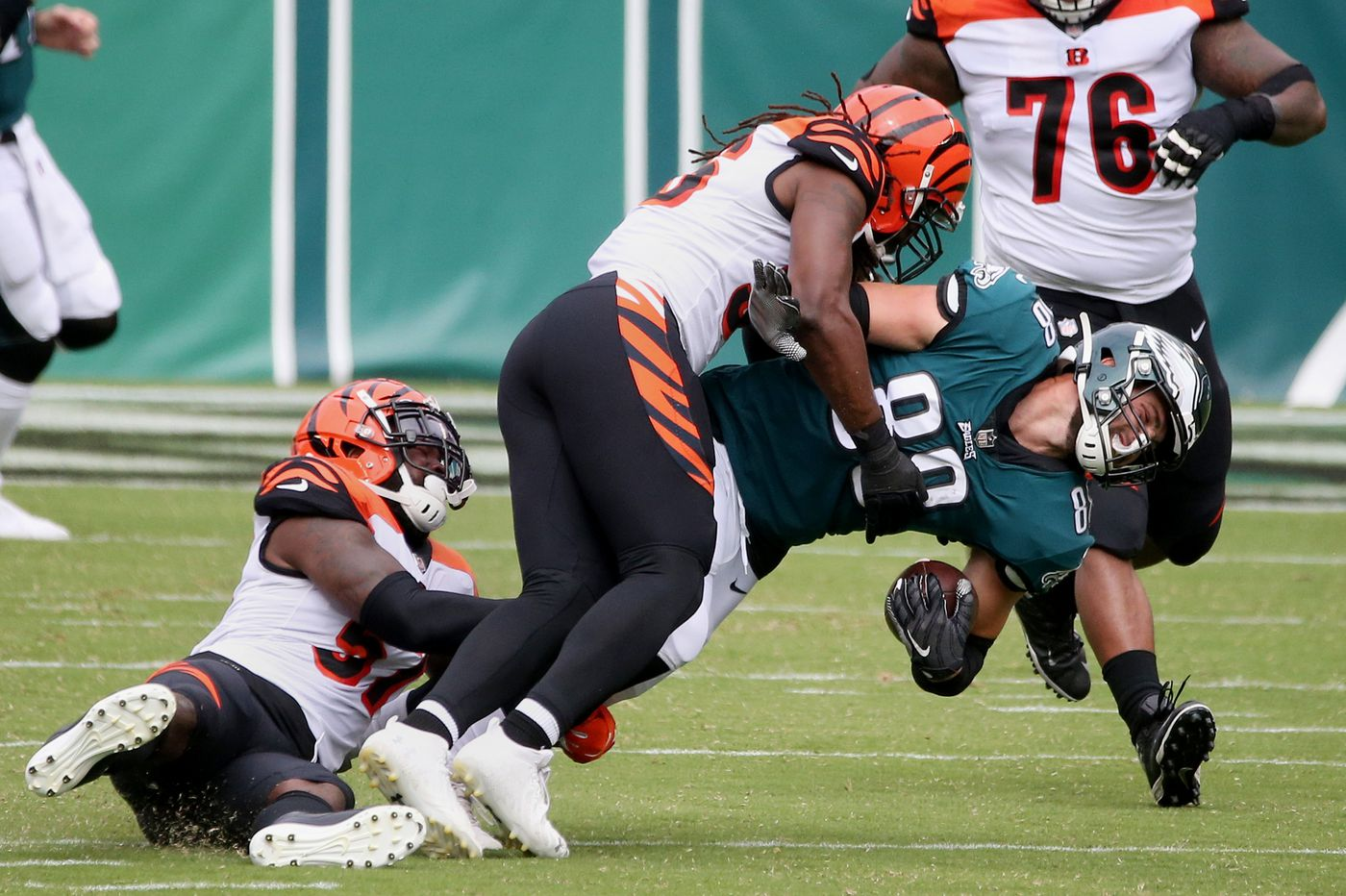 Dallas Goedert's injury crippled the Eagles vs. Bengals in Sunday's 23-23 tie