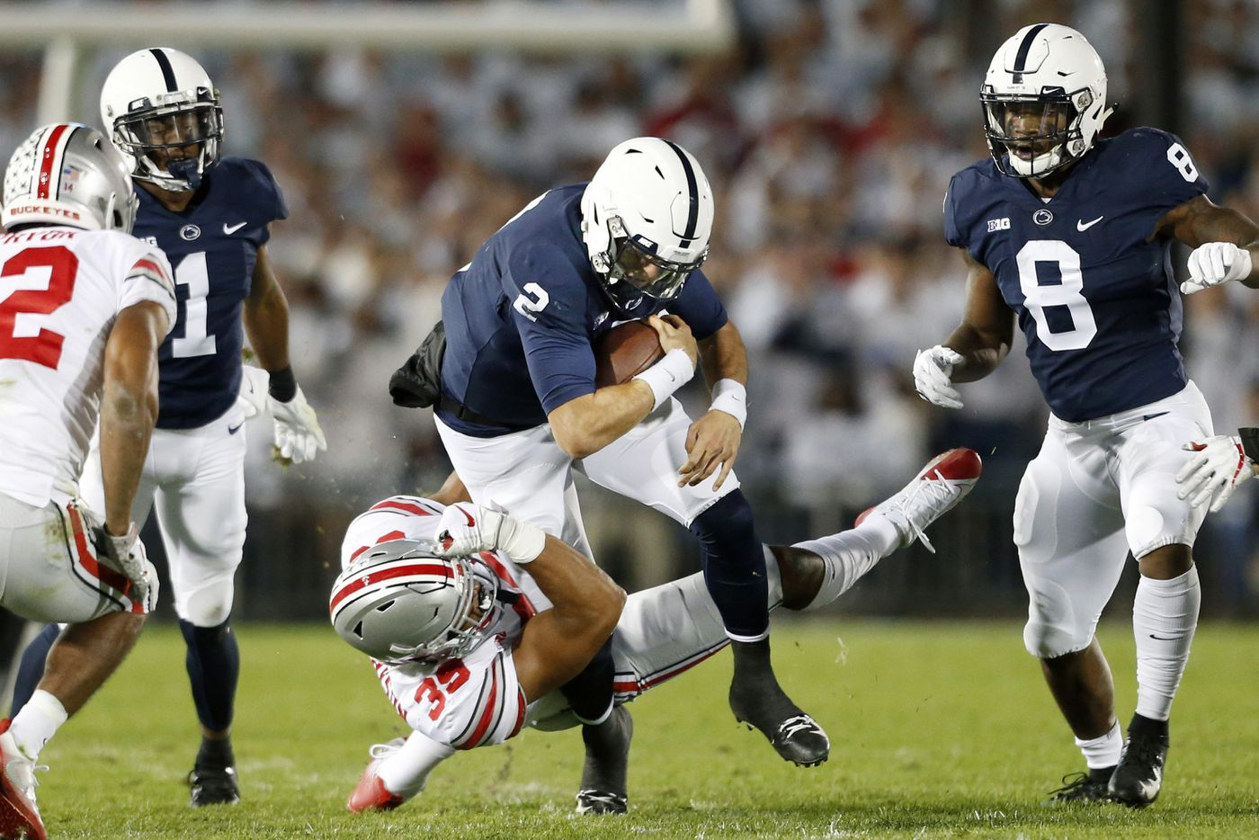 Penn State's Tommy Stevens not frustrated by lack of playing time