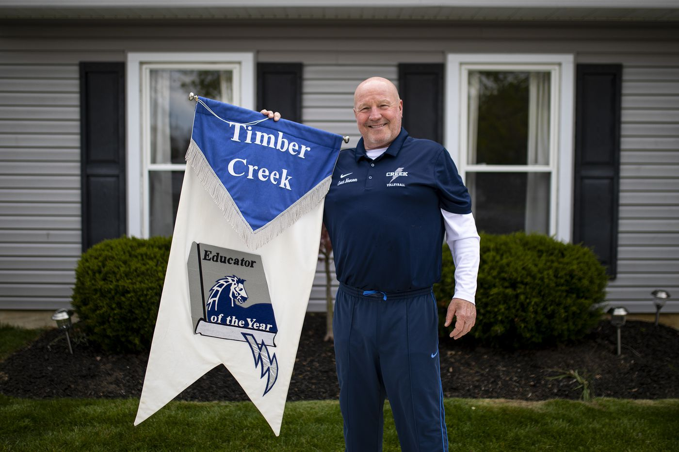 Right on time, Chuck Newsom is Timber Creek High's Educator of the Year