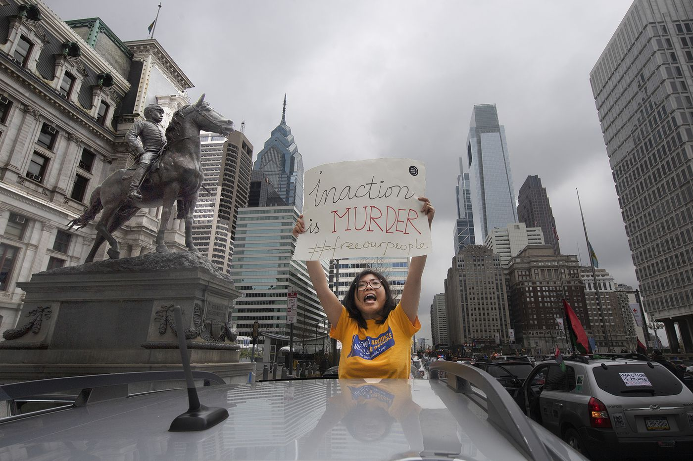 Protesting in the time of social distancing: Philly demands action by car, bike, text, and tweet