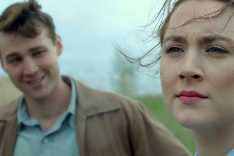 """Emory Cohen as """"Tony"""" and Saoirse Ronan as Eilis Lacey in """"Brooklyn."""""""