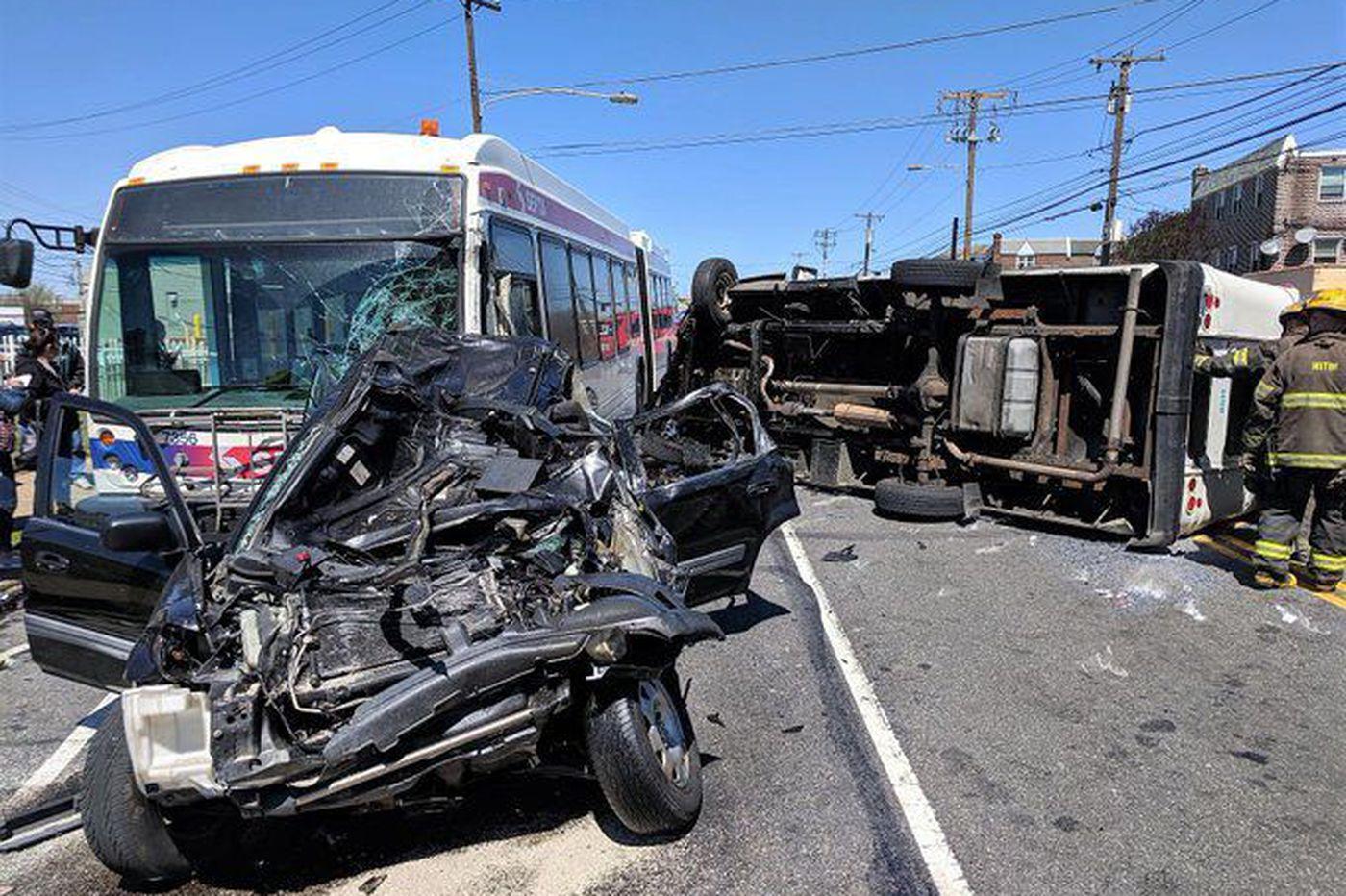 8 hurt in crash involving SEPTA bus, 2 other vehicles