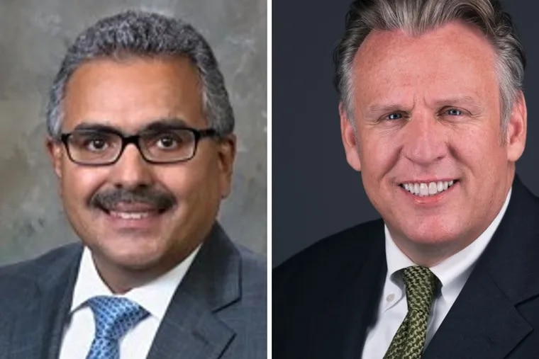 Robert Torres, left, is secretary of Pennsylvania's Department of Aging. Bill Johnston-Walsh is state director for AARP Pennsylvania.