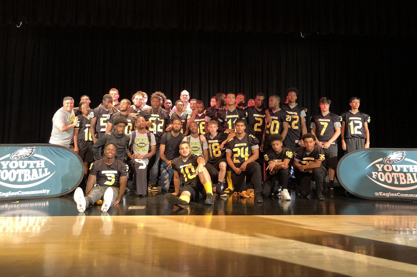 Eagles, Zach Ertz gift equipment to Kensington High School and 'Wolves Youth' football program
