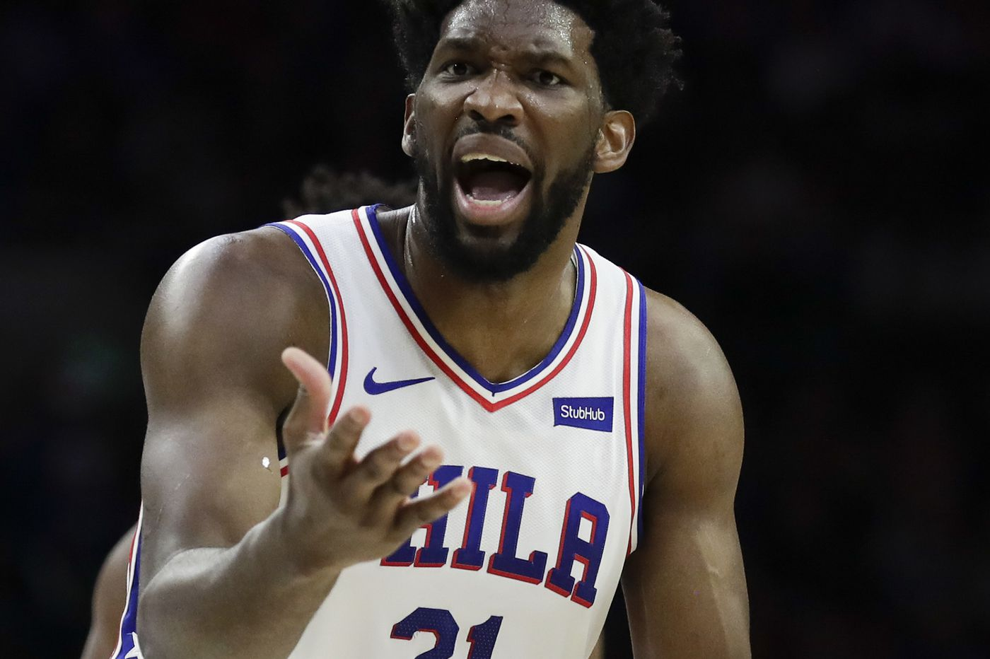 ab0d9da8563e Joel Embiid putting weight of every Sixers loss on his shoulders