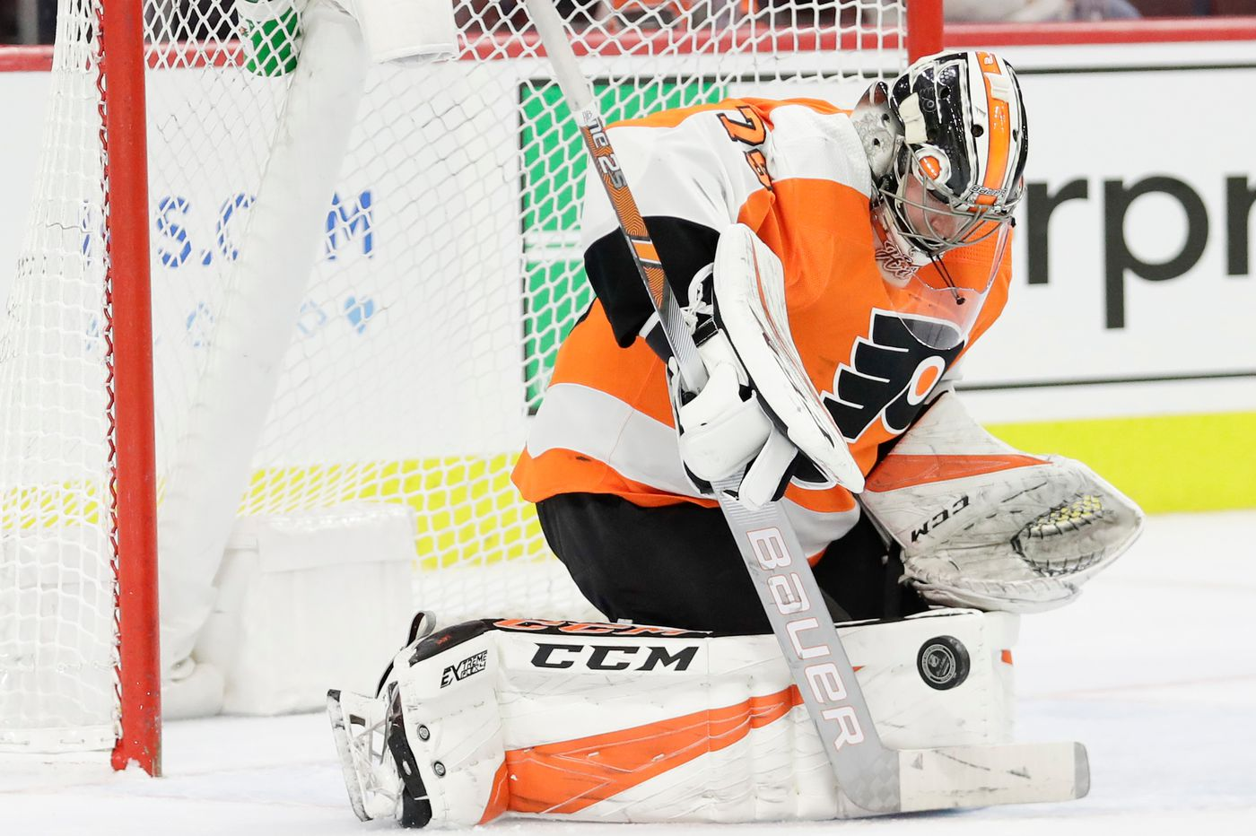Carter Hart might be the Flyers' No  1 goalie, but first he