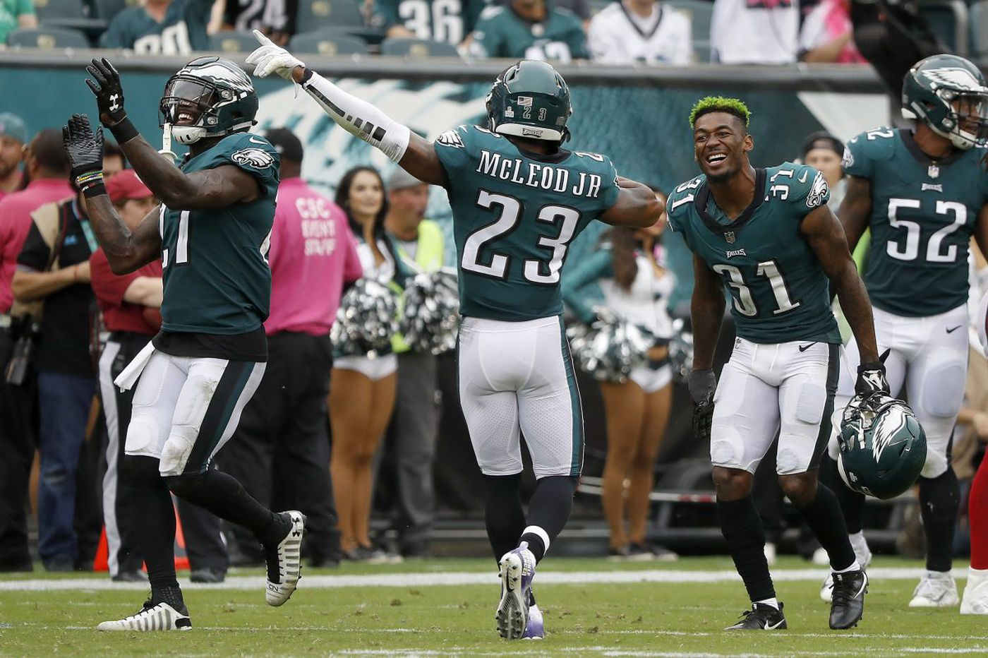 Jalen Mills and Rodney McLeod want to make sure safety isn't a secondary concern for the Eagles