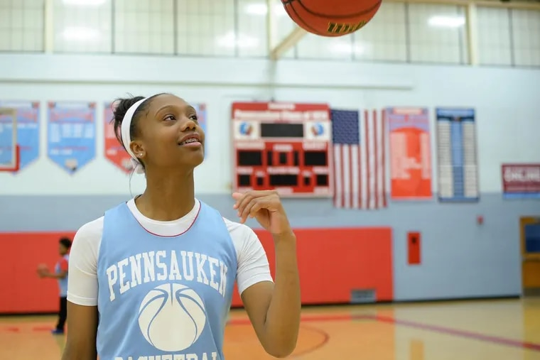 Shayla Sweeney, a senior at Pennsauken, recently signed to play basketball at La Salle next year.