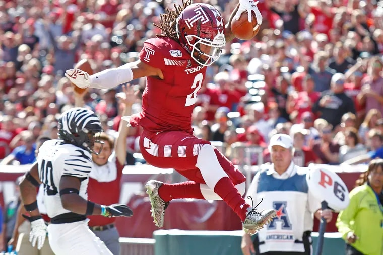 Temple receiver Isaiah Wright has been productive on offense but not so much on punt returns.