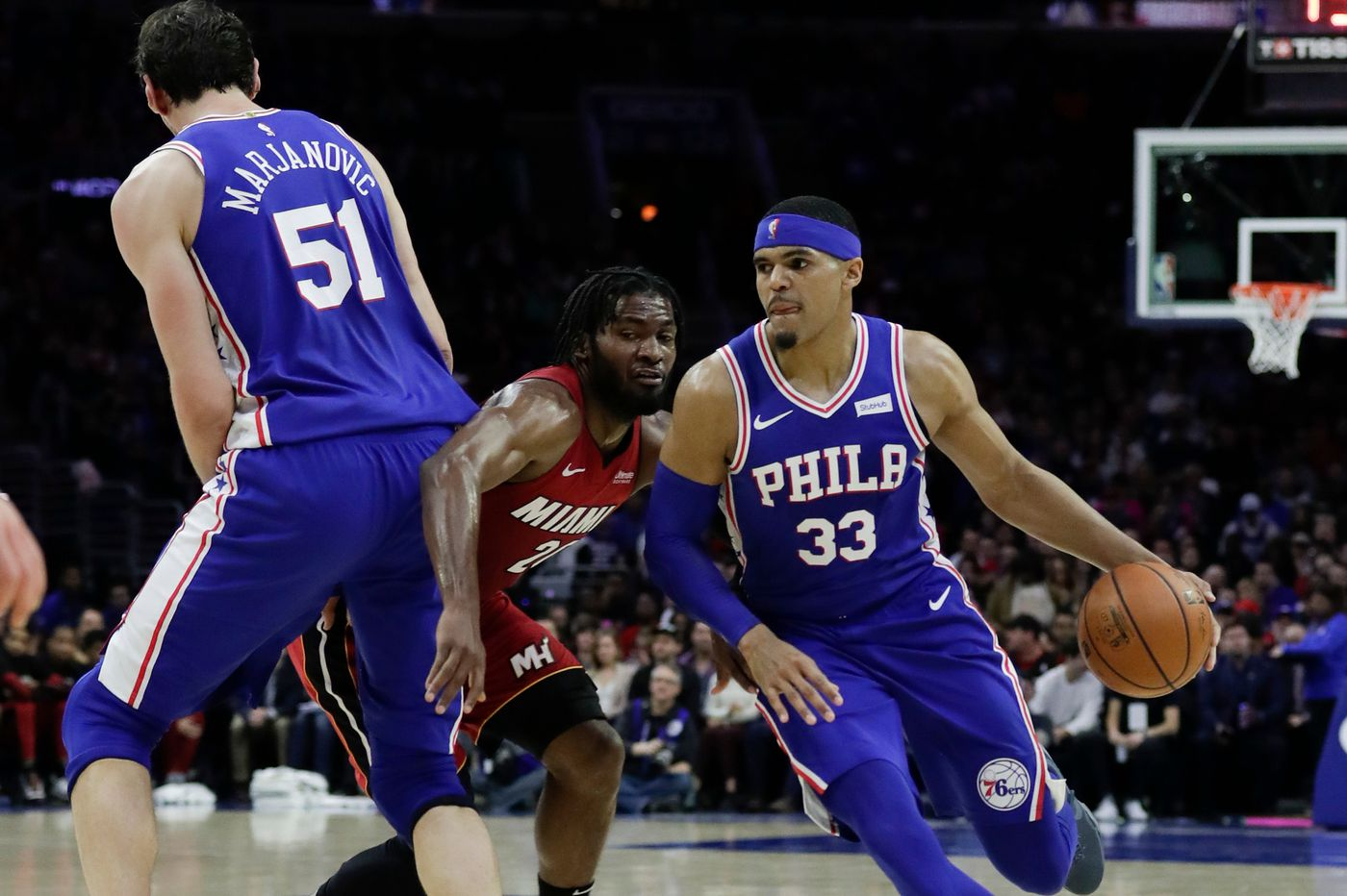Sixers-Heat observations: Tobias Harris' versatility, Ben Simmons' dwindling assists numbers