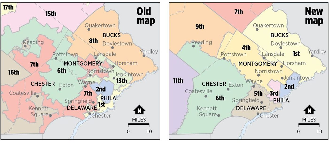 Pa. congressional district map upheld as U.S. Supreme Court ... on frederick county md district map, pa state representatives district map, pa house district map,