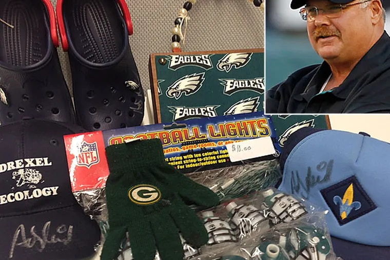 This is what $100 got you at the Andy Reid garage sale.
