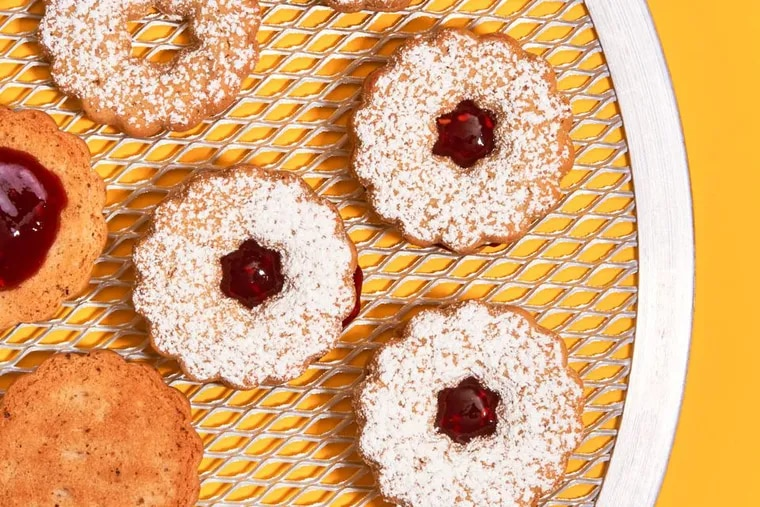 """""""Little Rascals"""" cookies, a variation of Linzer Tortes from Dorie's Cookies by Dorie Greenspan"""