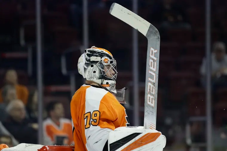 Carter Hart, the Flyers' top goalie prospect, will begin his professional career in the AHL with the Lehigh Valley Phantoms.