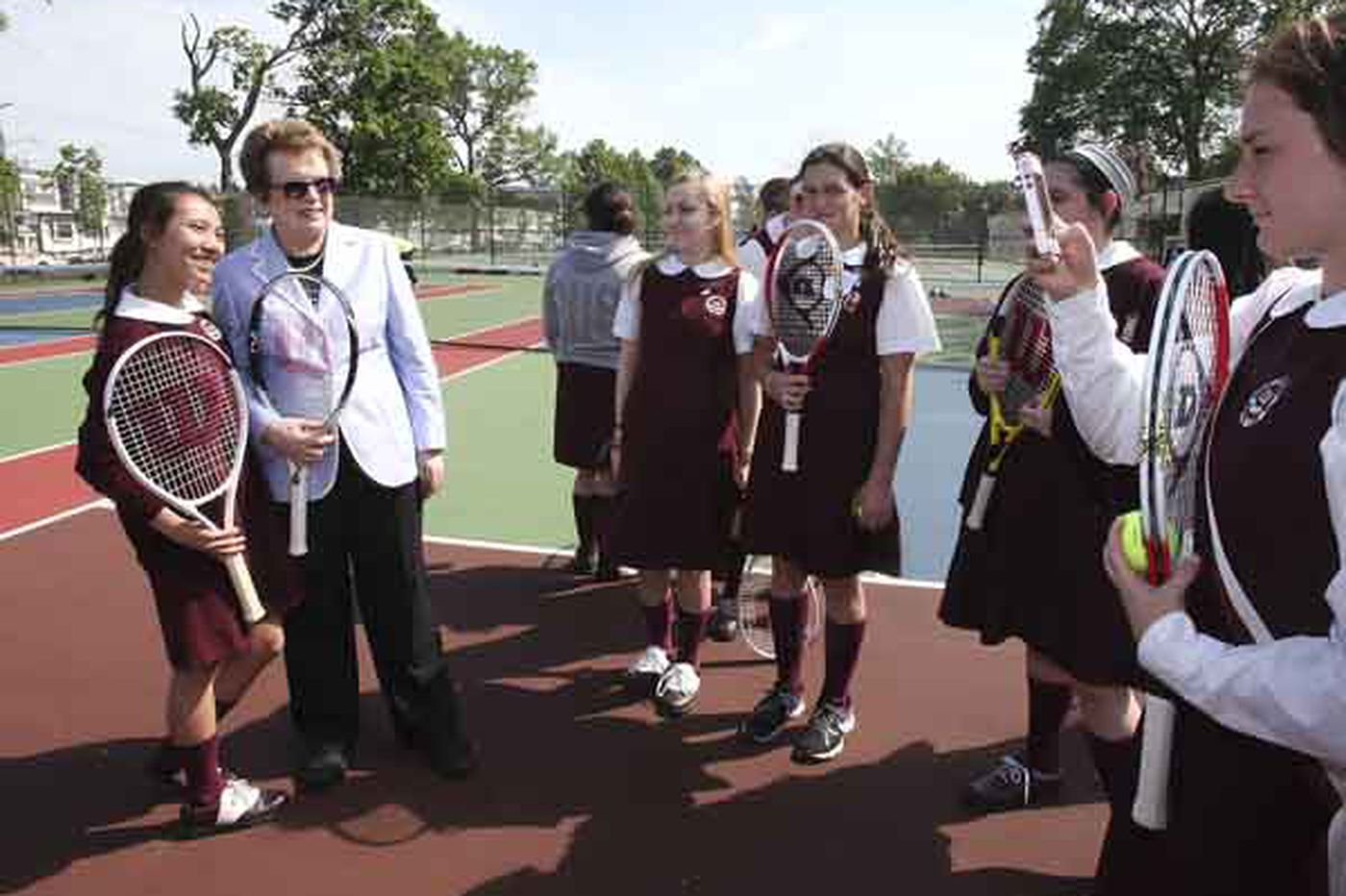 Tennis icon Billie Jean King helps open Hunting Park courts