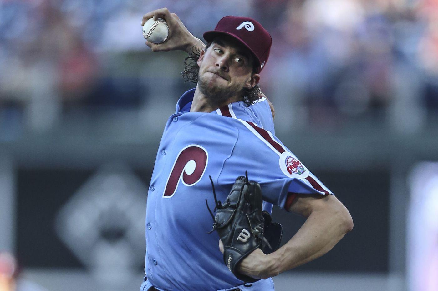 Phillies beat Nationals behind Aaron Nola's gem, Seranthony Dominguez's close