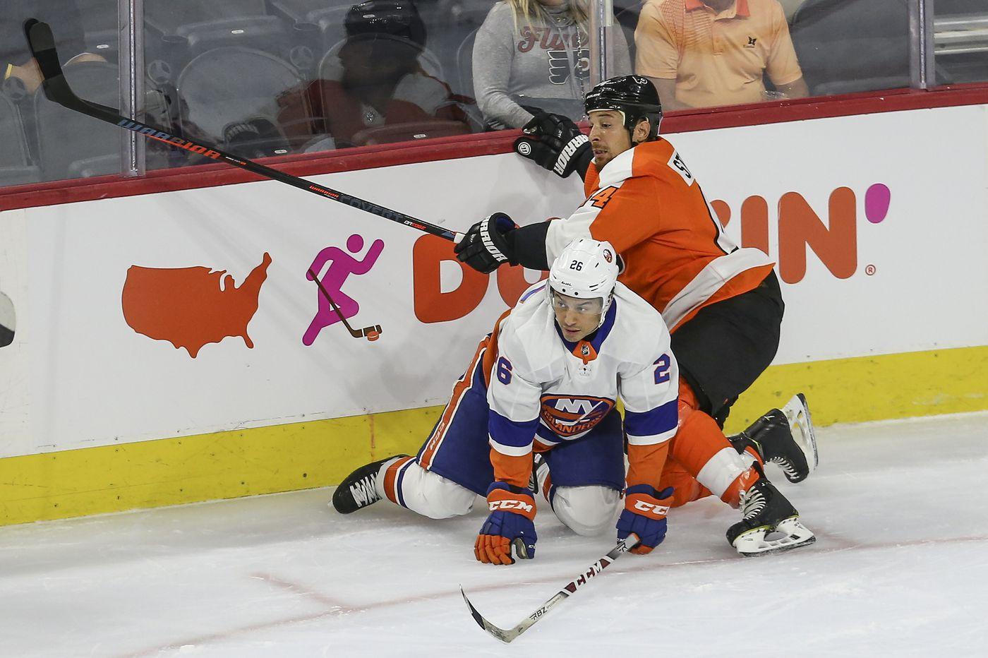 Flyers fall to Islanders, 3-1, in teams' exhibition opener