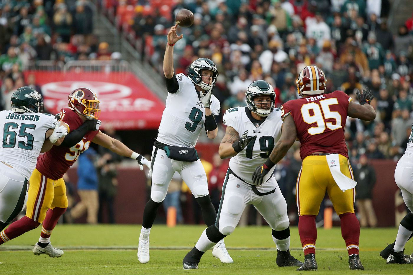 Eagles 24, Redskins 0 — as it happened