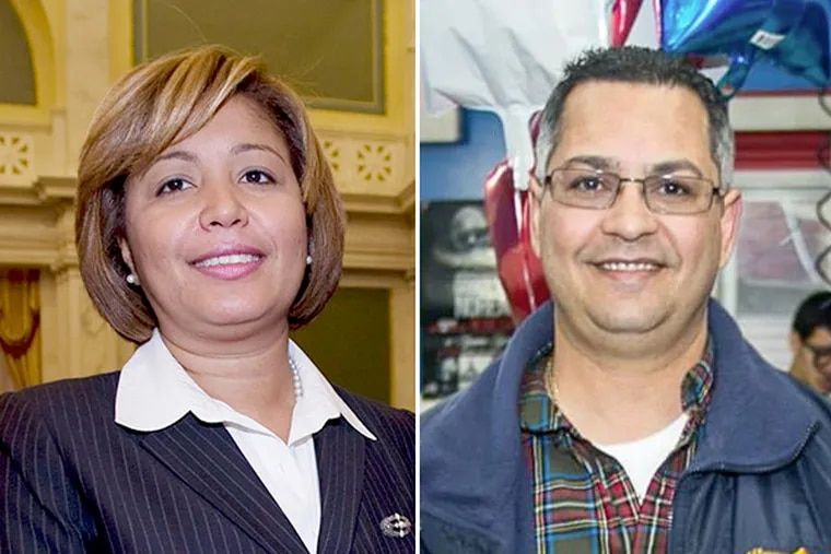Seventh District Councilwoman María Quiñones-Sánchez (left) is accusing her party-endorsed rival, Emanuel 'Manny' Morales, of posting dozens of ultra-conservative, racist and anti-immigrant messages on Facebook.
