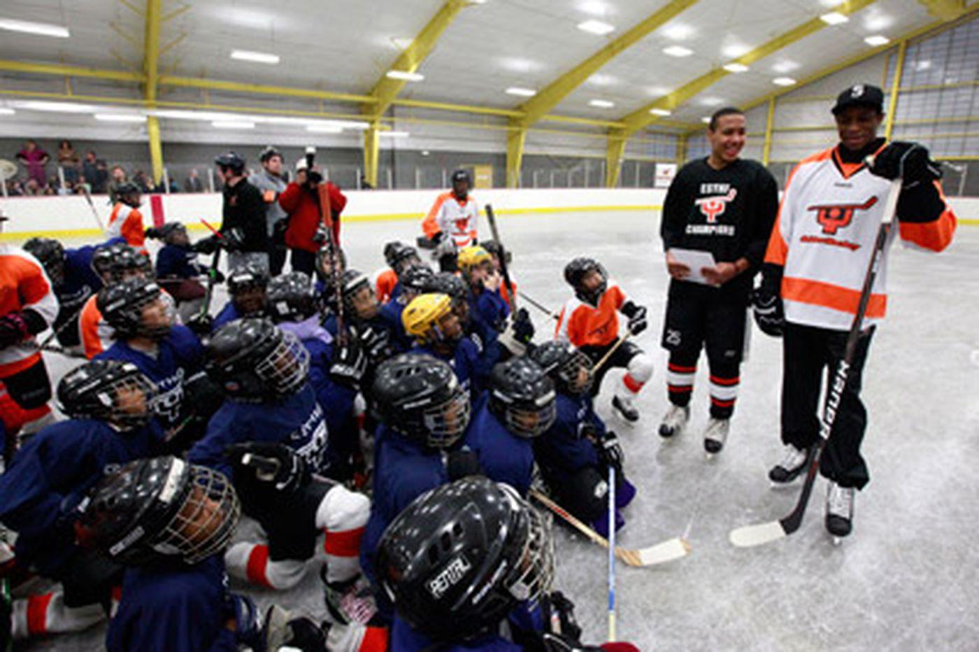 Hockey helps youths skate a straight line