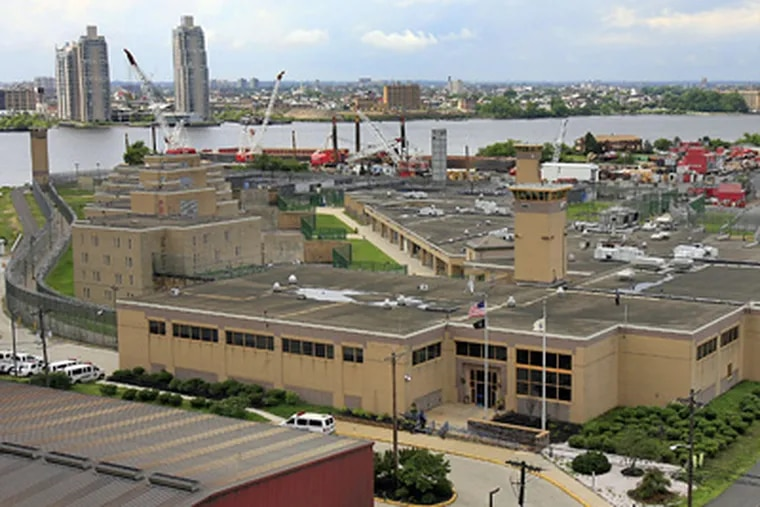 The 25-year-old Riverfront State Prison, on prime real estate along the Camden waterfront, is set to close its doors. After all the inmates have been relocated, the facility is to be razed to make way for redevelopment projects designed to bring money, housing, and jobs to the city. (Akira Suwa / Staff Photographer)