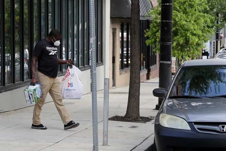A Gopuff delivery driver picks-up an order at the Manayunk store earlier this month.