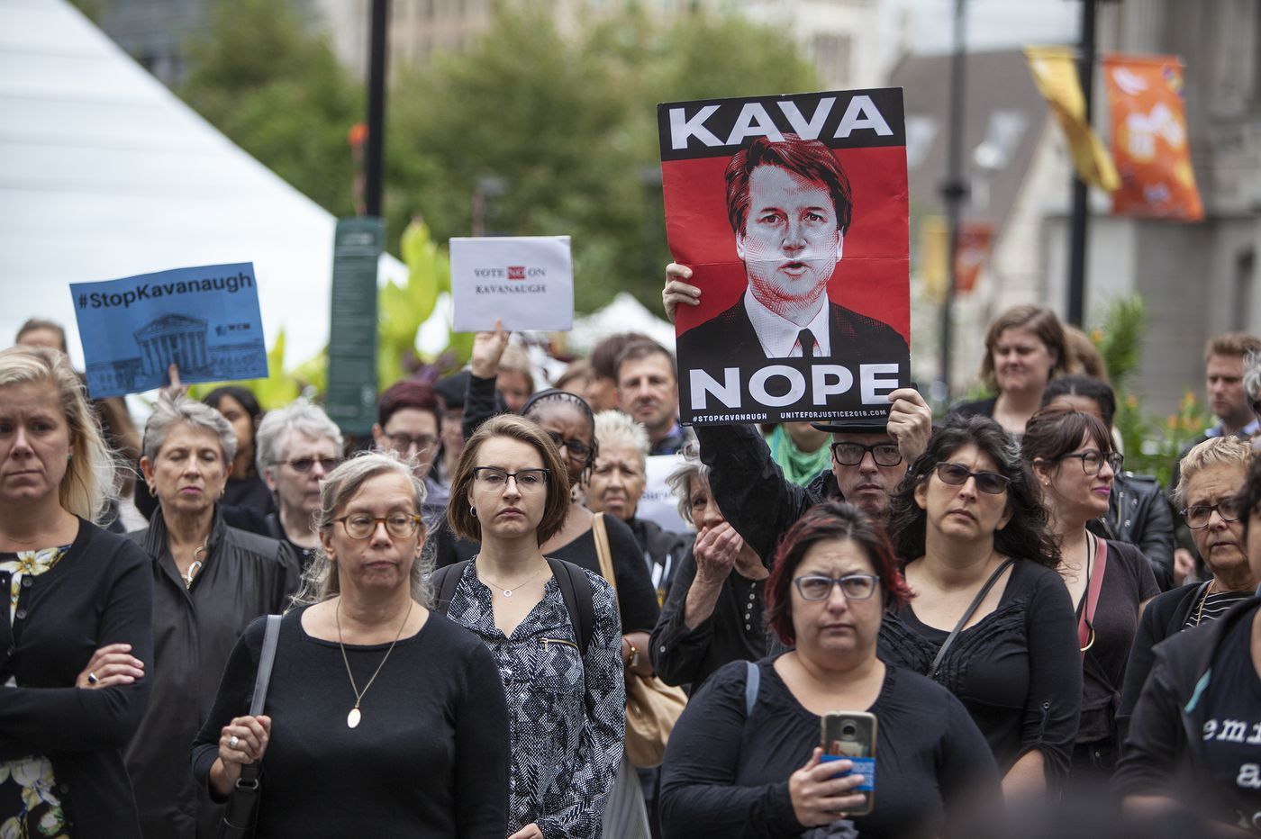 While Washington roils over Kavanaugh, and Cosby faces prison, Philly women protest with their stories