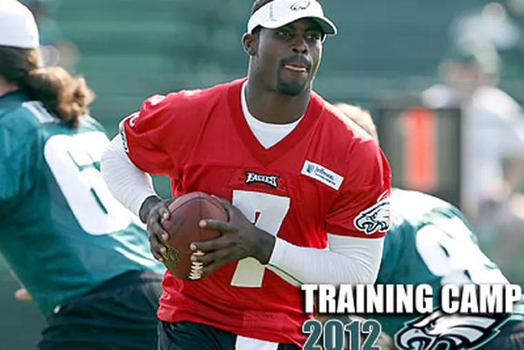 The Eagles admit now that they threw too many changes at Vick early last season. (Yong Kim/Staff Photographer)