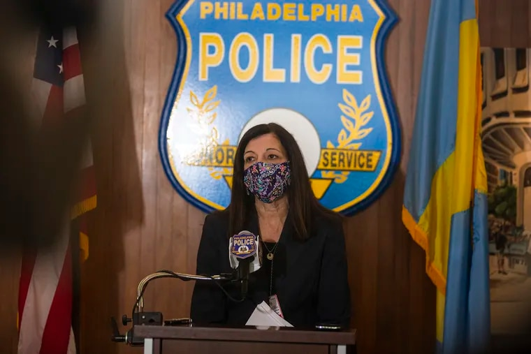 Joanne Pescatore, Assistant Chief for Homicide at District Attorney, answers any questions from the press regarding the shooting that took place last Wednesday Jan. 13, at Police Headquarters on Tuesday, Jan. 19, 2021.