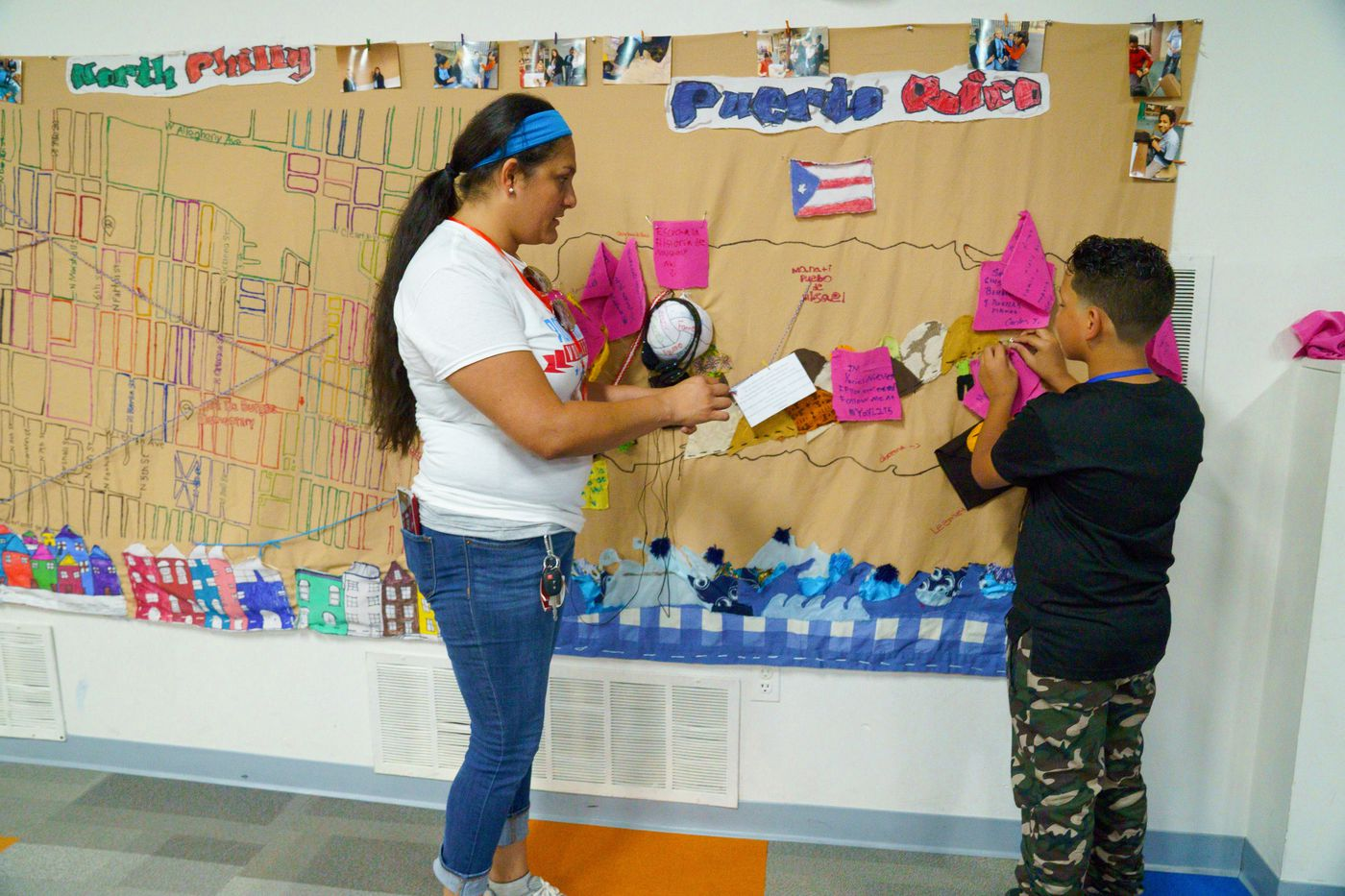 From rural villages to the gritty streets of Philly, kids displaced by Maria map their emotions