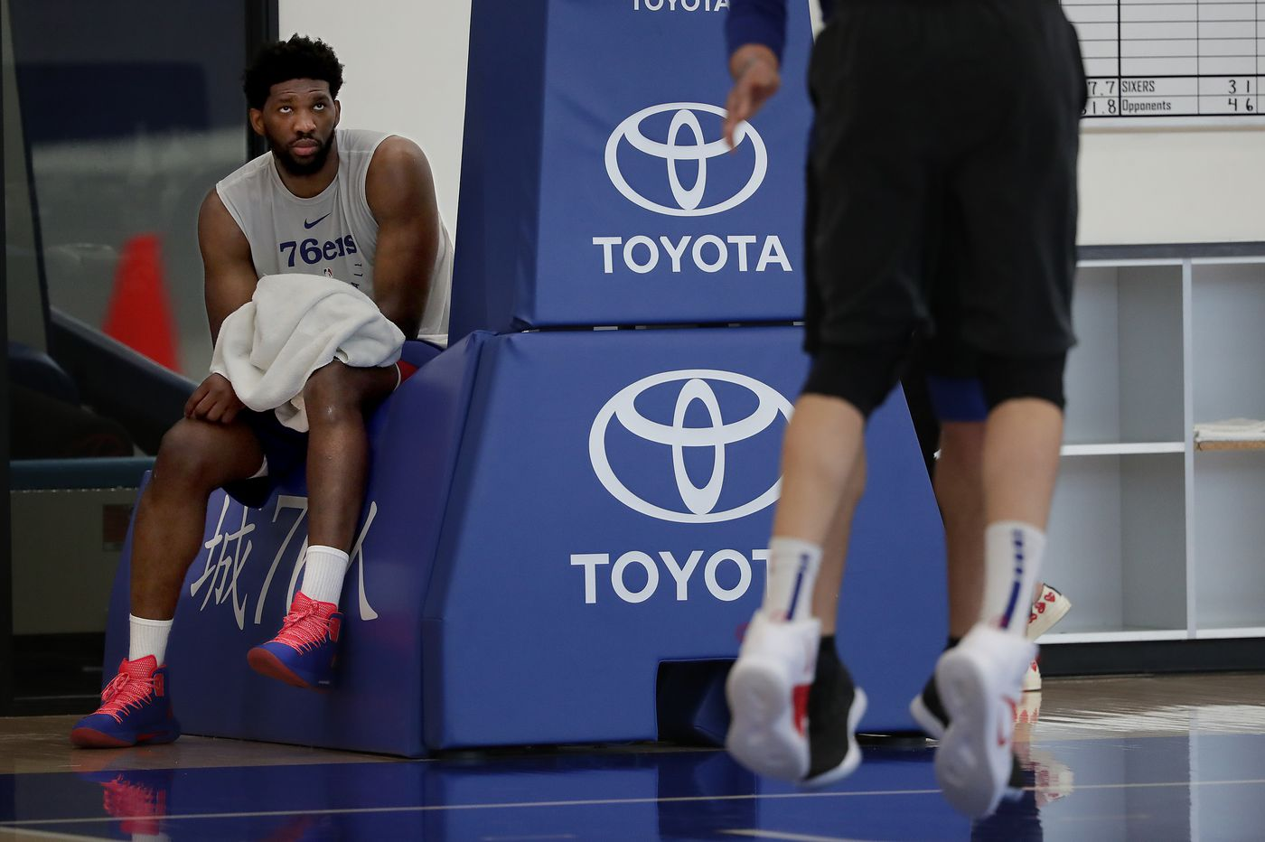 Sixers' Joel Embiid doesn't think he needs to be more careful after flagrant fouls