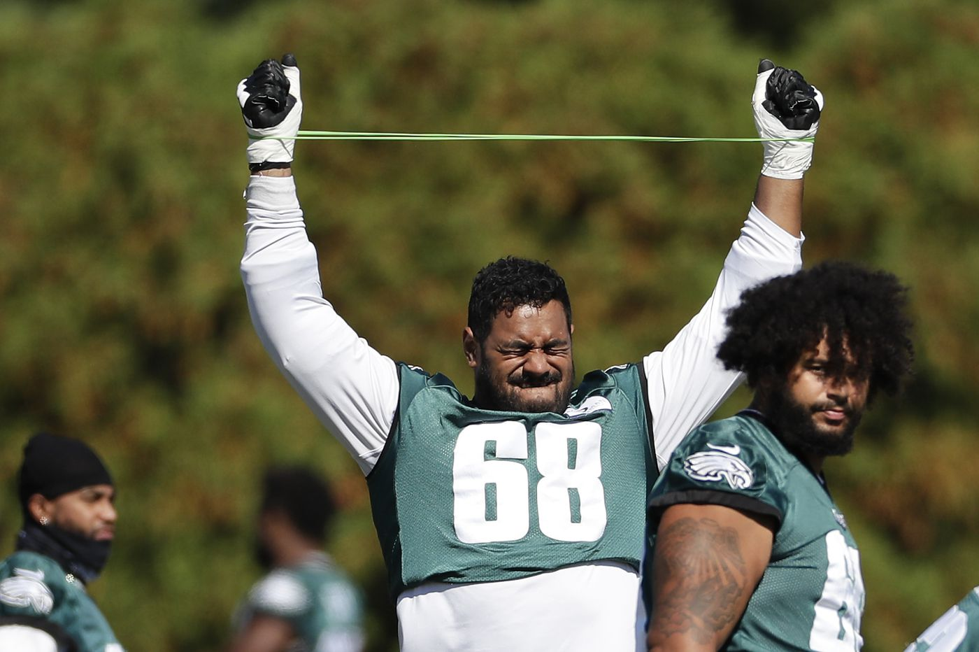 Since leaving Australia, Eagles' Jordan Mailata has plenty of chances to sink, but now, 'I'm swimming,' he says