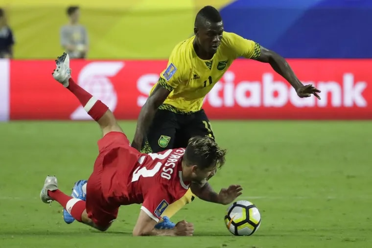 New Philadelphia Union striker Cory Burke was on Jamaica's national team at the 2017 CONCACAF Gold Cup.