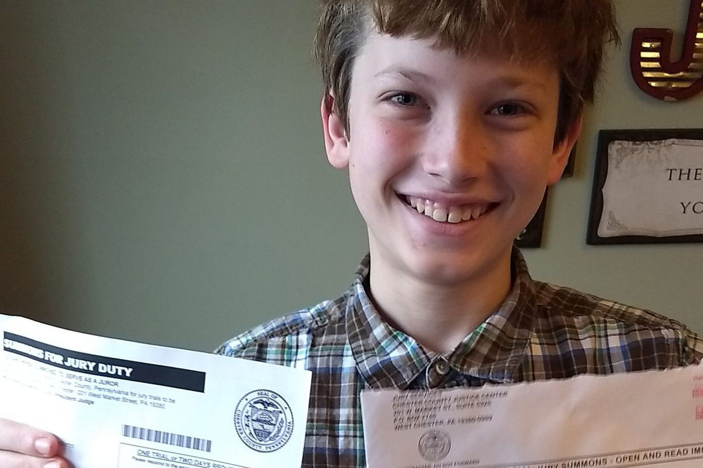 Boy Scout, 11, summoned for jury duty in West Chester