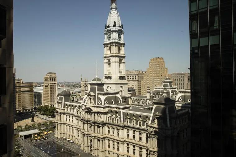 Shown is City Hall in Philadelphia, Wednesday, May 17, 2017. (MATT ROARKE / AP)