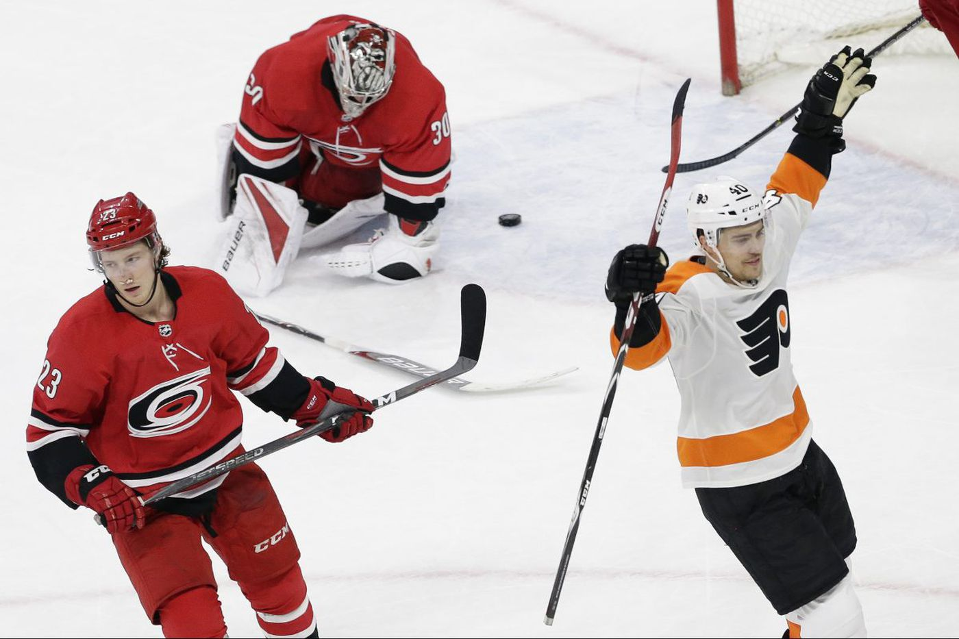 Flyers win on Jordan Weal's overtime goal