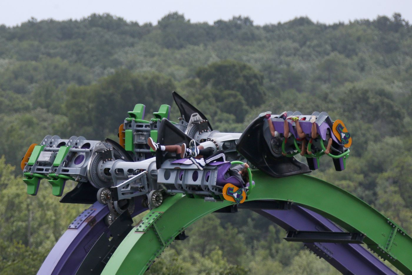 People ride the Joker at Great Adventure.