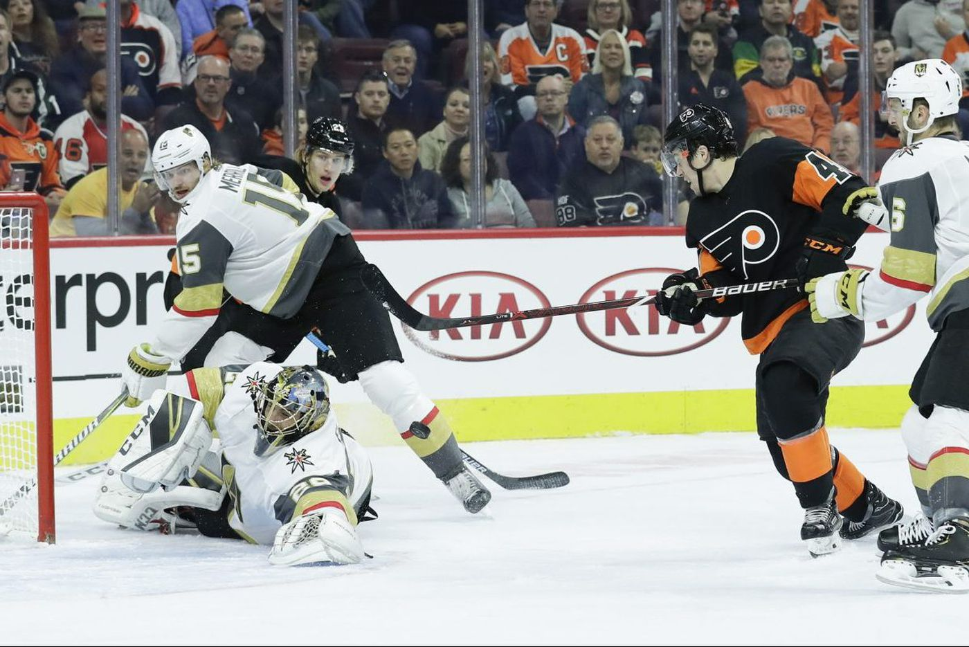Flyers can't beat Marc-Andre Fleury, lose to Golden Knights