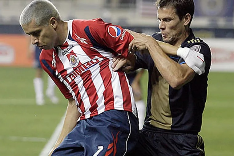 Bimbo Bakeries, the Union's new jersey sponsor, is also associated with Mexcian powerhouse Chivas. (Yong Kim/Staff file photo)
