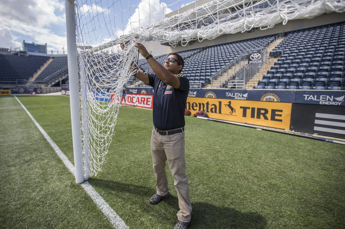 For Union groundskeeper, field is reflection of passion