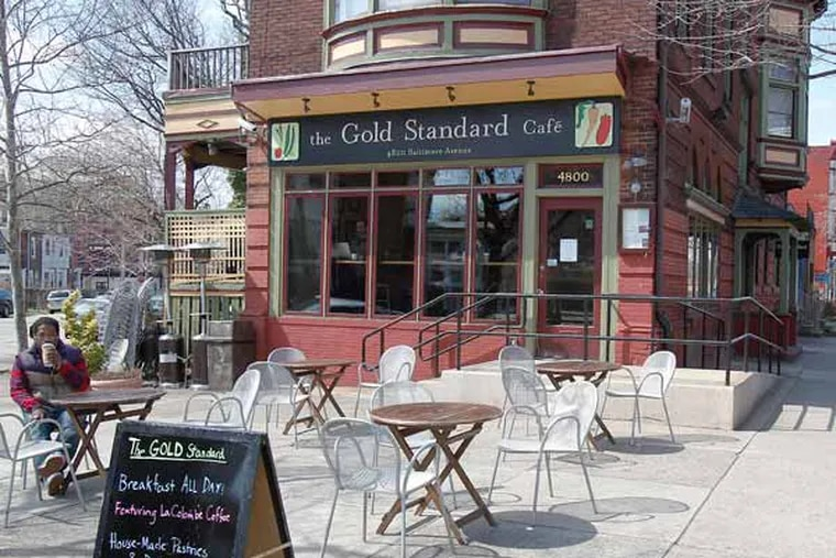 Cedar Park with its shops, restaurants and galleries stretching from 4700 to 5000 block of Baltimore Avenue.  Gold Standard Café on 4800 Baltimore Ave. April 02, 2013. ( AKIRA SUWA  /  Staff Photographer )