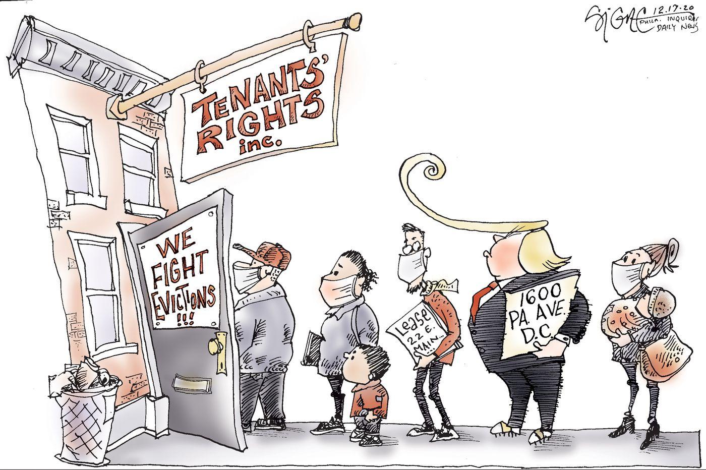 Political Cartoon: Evicting Donald Trump